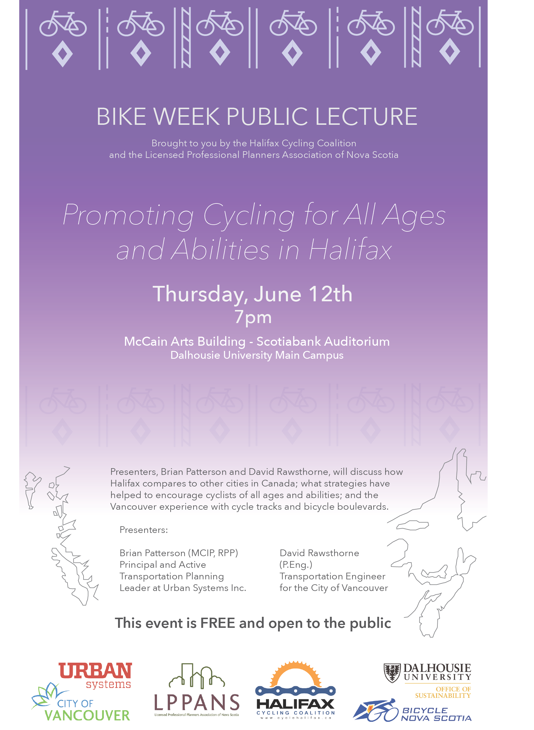 Bike Week public lecture poster