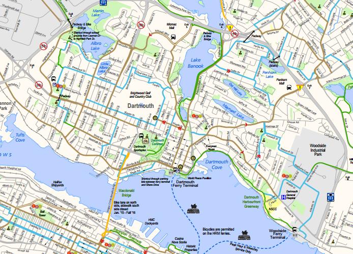 Dartmouth active transportation plan map