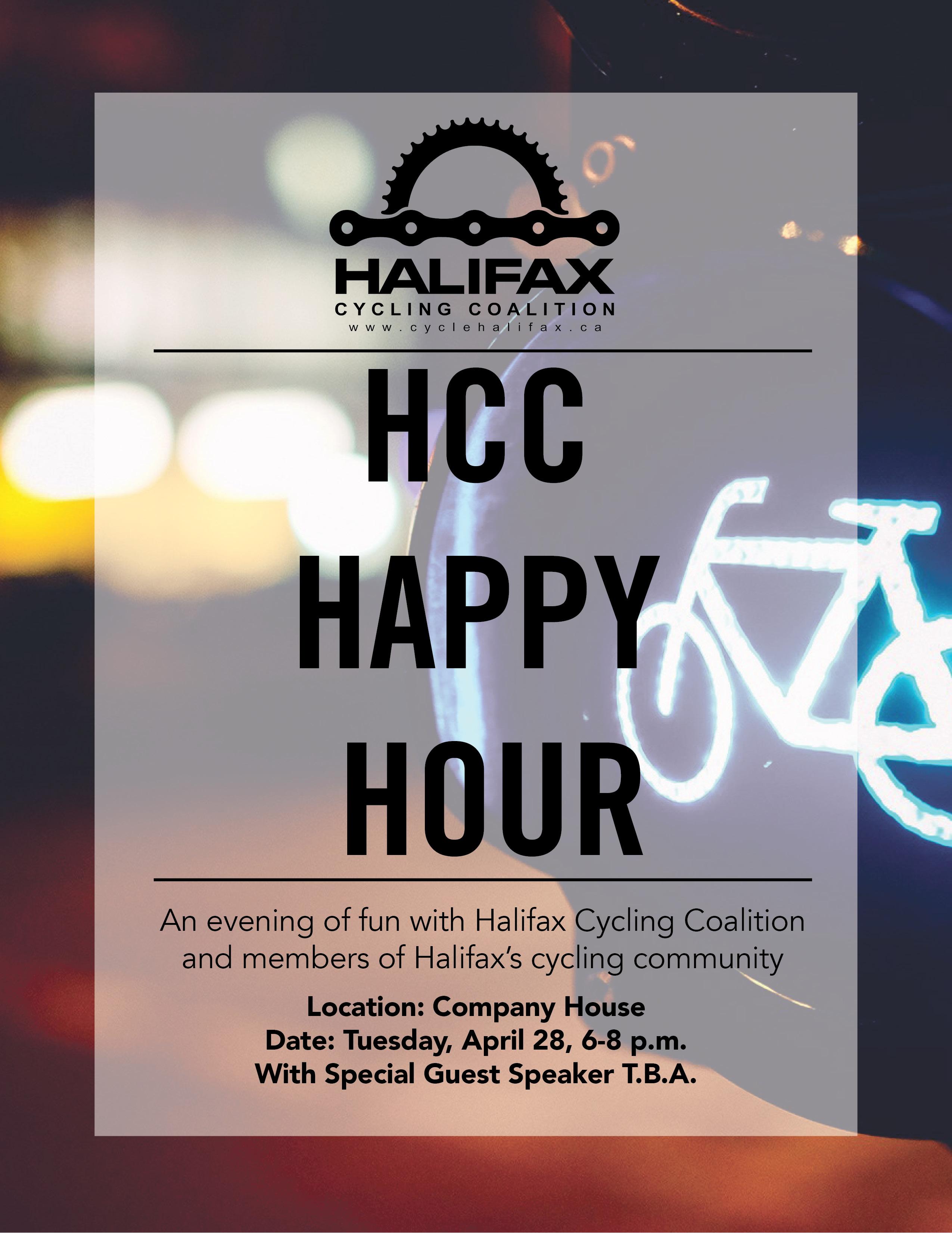 april happy hour poster