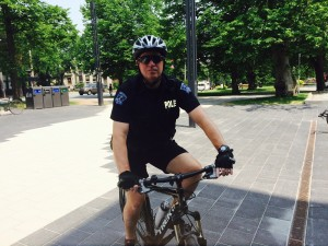 Const. Shawn Currie uses his bike as a means of transportation for his job, a police officer with HRP.