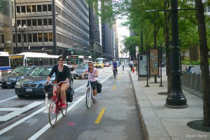 dearbon street protected bicycle lane